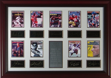 Sports Champion Engraved Signature Display