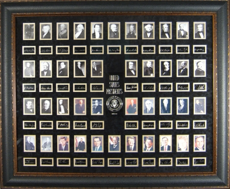 Historic - U.S. Presidents Engraved Signature Display