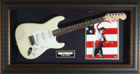 Guitar Display - Bruce Springsteen