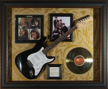 Guitar Display - the Beatles