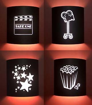 Four Or More Home Theater Sconces No Filmstrips