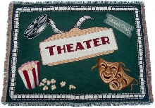 Home Theater Hunter Green Throw Blanket