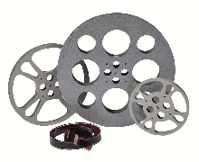Home Theatre Set Natural: Set of 3 Film Reels