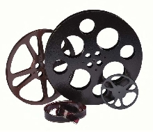 Home Theatre Set Rustic: Set of 3 Film Reels
