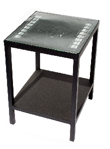 Theater-Themed End Table with Film Strips