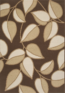 Loft Area Rug with Leaf Pattern