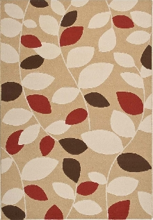 Loft Area Rug with Leaf Ribbons