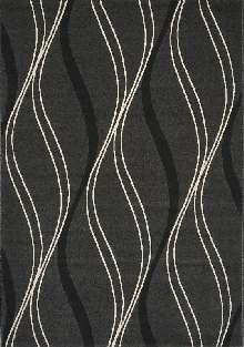 Loft Area Rug with Swirling Ribbons