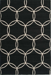 Loft Area Rug with Interlocking Circles