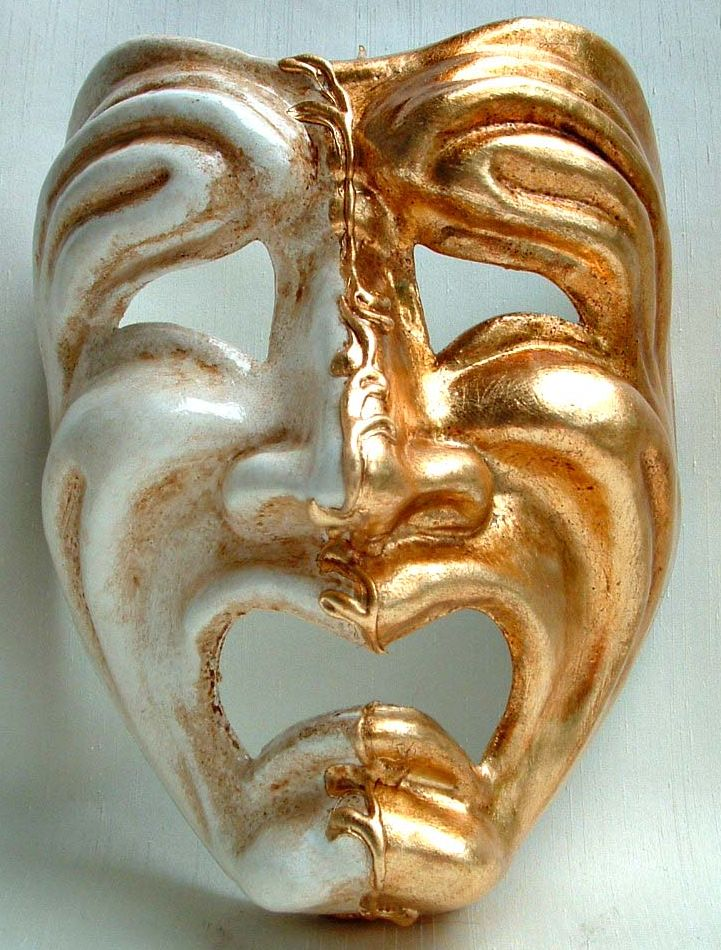 Comedic Tragedy Theater Mask
