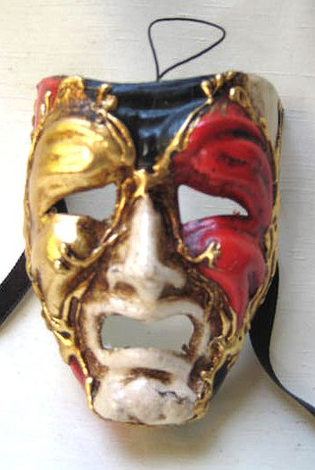 Multi-Color Tragedy Theater Mask Miniature