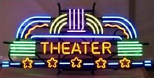 Neon Theater Marquee Sign