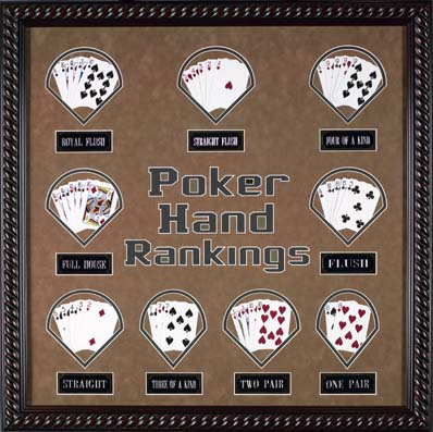 """Poker Hands"" Gameroom Display"