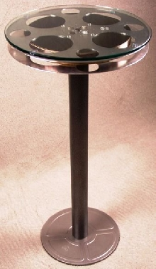 Pub Reel Table with Can Cover Base