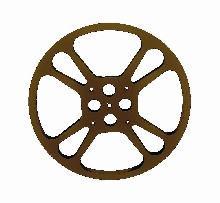 Movie Theater Steel Teardrop Reel