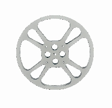 """7"""" Small Steel Theater Reel Flange"""