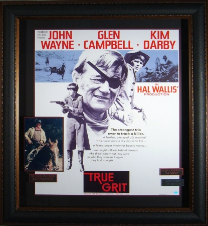 """True Grit"" Movie Poster with Photograph"