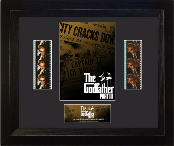 The Godfather Part III Poster Double Film Cell