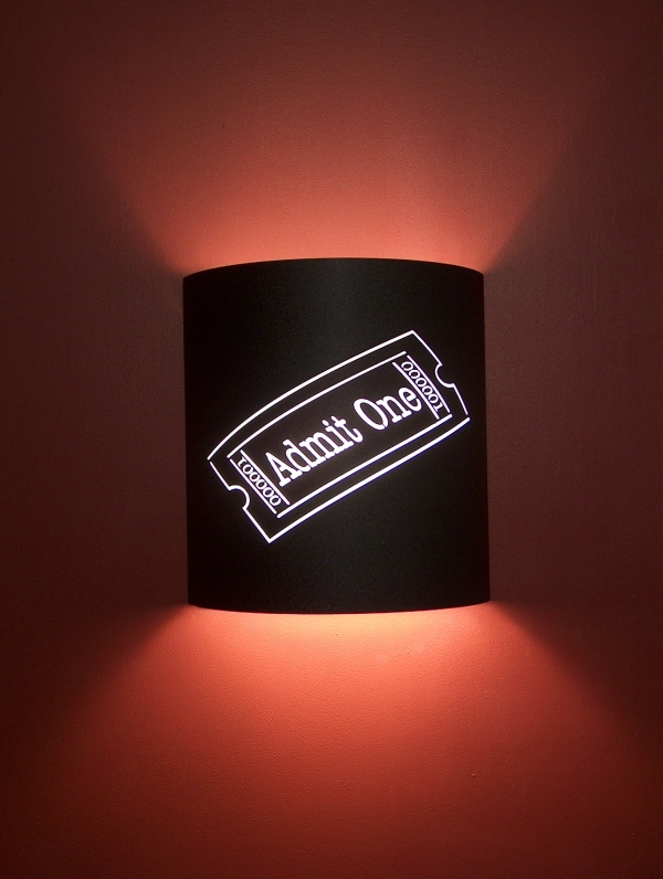 """Admit One"" Movie Ticket Theater Sconce"