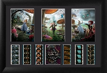 Alice in Wonderland All Characters Triple Frame Film Cell