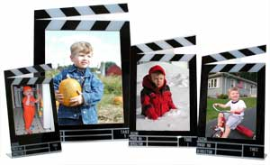 Clapboard Photo Frames (Portrait)