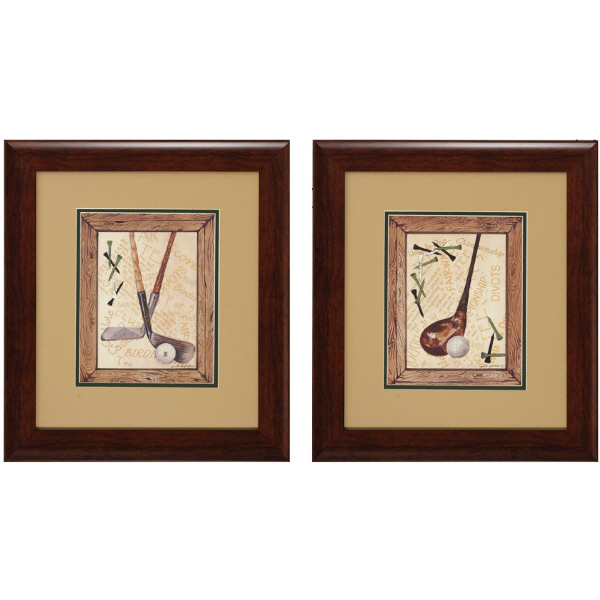 Golf Theme Wall Art Pair