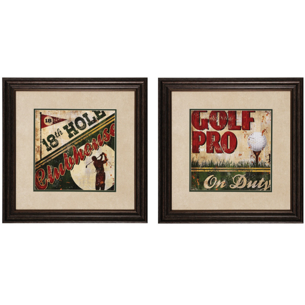 Golf Pro Theme Wall Art Pair