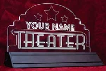 Edge-Light Illuminated Theater Sign