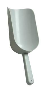 White Plastic Popcorn Scoop