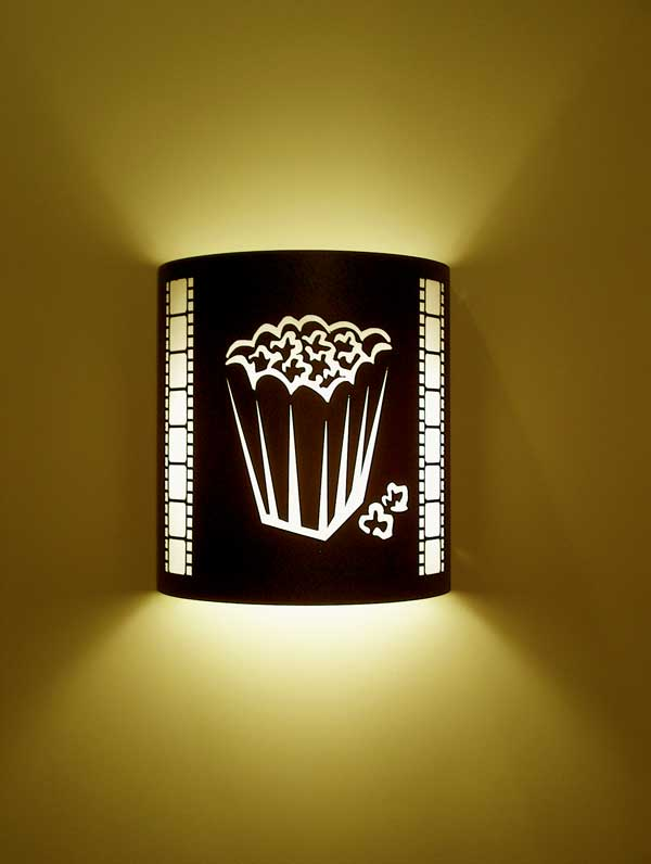 Popcorn Theater Sconce (with filmstrip)