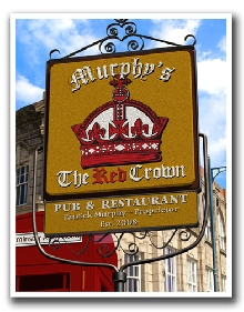 Personalized Red Crown Pub Print