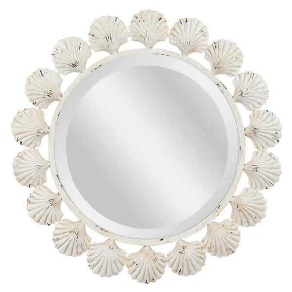 Shell Beveled Mirror
