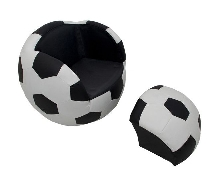 Soccer Upholstered Chair with Ottoman