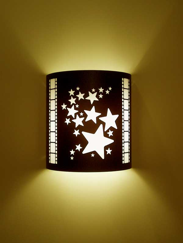 Stars Theater Sconce With Filmstrips