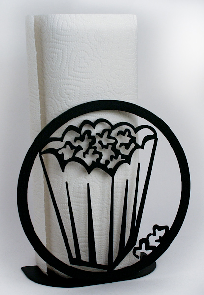 Black Metal Art Paper Towel Holder