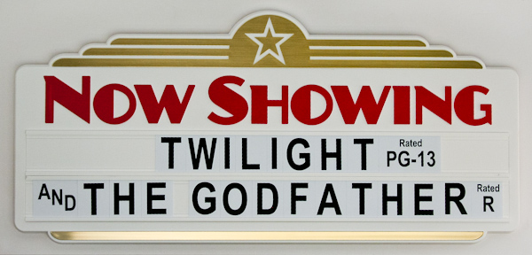 Home Theater Feature Marquee Sign