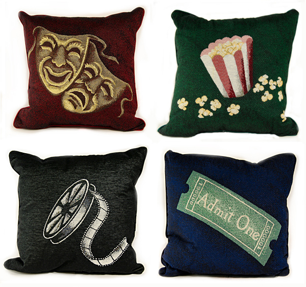 4 or more deluxe home theater pillows - Home Cinema Decor
