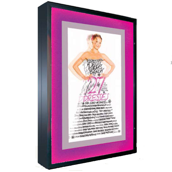 Illuminated Poster Case with Illuminated Color Changing Border
