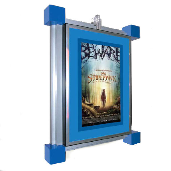 Deco Illuminated Poster Case with Dayglow Boarder