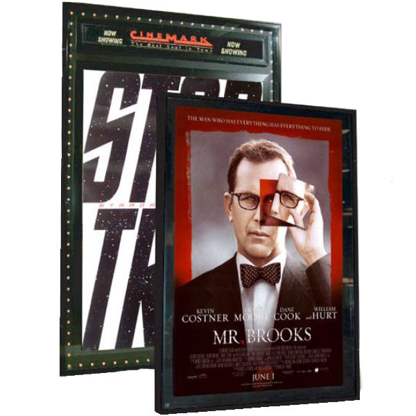 extra large format illuminated poster case