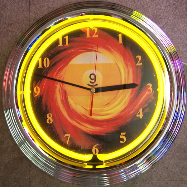 9 Ball Fire Clock