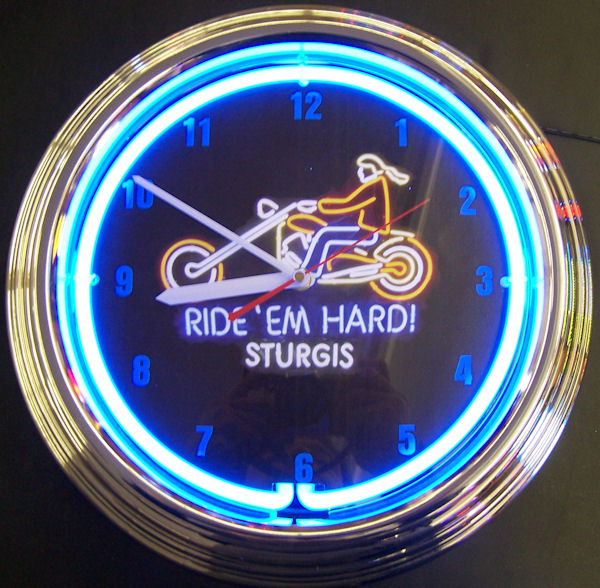 Motorcycle Sturgis Clock