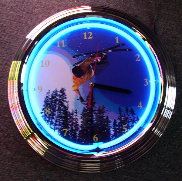 Skiing Clock