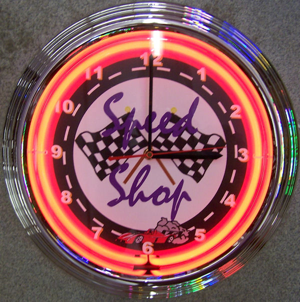 Speed Shop Clock