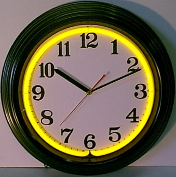 Standard Black & Yellow Clock