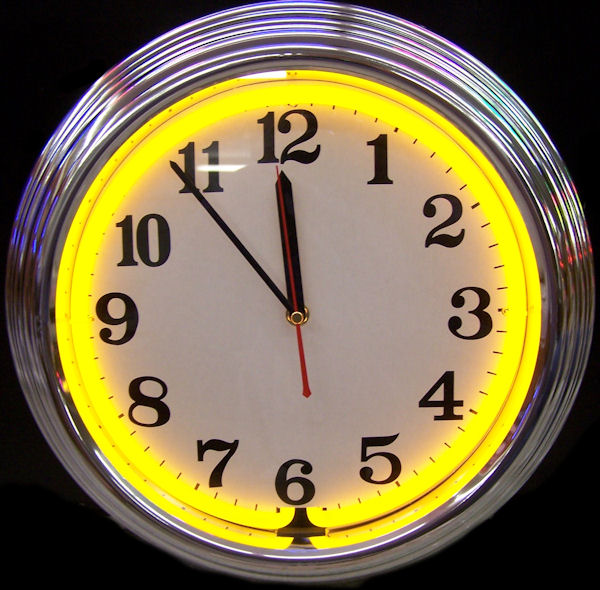 Standard Chrome Yellow Clock