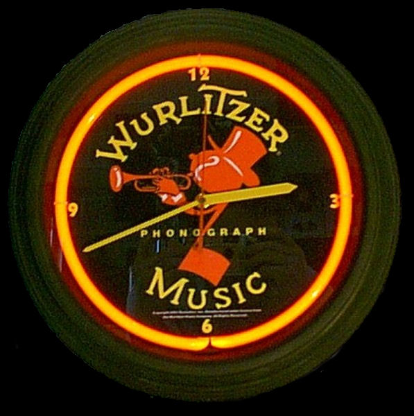 Wurlitzer Red Clock