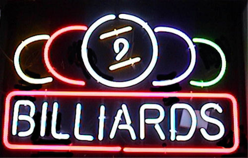 9 Ball Billiards Sign