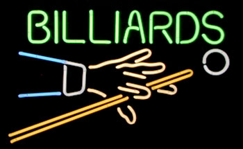 Billiards Hand Cue Sign