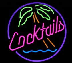 Cocktails Palm Sign